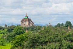 Та реконструкция виска Byin Nyu после землетрясения, Bagan, мам Стоковые Изображения RF