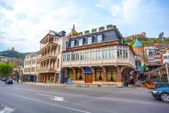 13 04 2018 Тбилиси, Georgia - взгляд Тбилиси, столицы Georgi Стоковое Фото