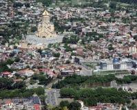 Тбилиси, взгляд сверху Стоковые Изображения RF