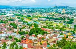 Тбилиси от крепости Стоковые Изображения RF