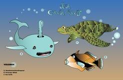 Твари моря, кашалот иллюстрация вектора