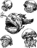 Твари моря Стоковое Изображение RF
