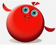 Тварь красного цвета шаржа иллюстрация вектора