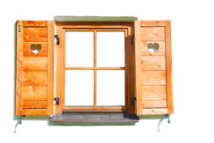 твердая древесина окна Стоковые Фотографии RF