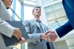 Твердое рукопожатие деловых партнеров Стоковые Фотографии RF