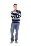 твердо человек стоя молодо Стоковая Фотография