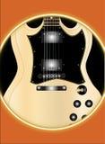 Твердая гитара Стоковые Фотографии RF