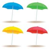 Твердое тело зонтика пляжа Стоковые Изображения