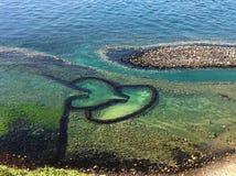 Твиновская плотина камня сердца стоковая фотография