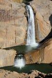Водопад на померанцовом реке стоковая фотография