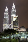 Твин-Тауэрс Petronas, Куала Лумпур Стоковое Изображение RF
