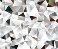 Творческая абстрактная белизна полигона, Брайн, черная иллюстрация ART зажима вектора Стоковые Изображения RF