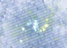 Творческая абстрактная голубая иллюстрация с кругами Запятнанное влияние полутонового изображения ART зажима вектора Стоковое Изображение