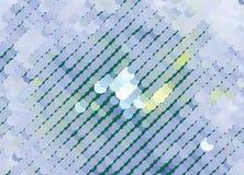 Творческая абстрактная голубая иллюстрация с кругами Запятнанное влияние полутонового изображения ART зажима вектора Стоковые Фото