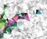 Творческая абстрактная иллюстрация полигона ART зажима вектора Стоковое Фото