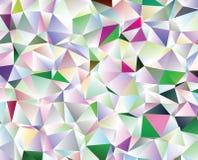 Творческая абстрактная иллюстрация полигона ART зажима вектора Стоковое Изображение