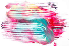 Творческая абстрактная печать, современное искусство, краска цвета Стоковые Фото