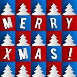 Творческая абстрактная с Рождеством Христовым рождественская открытка Стоковая Фотография RF