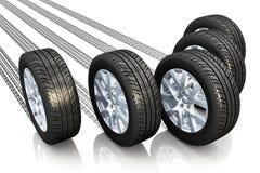 Автомобильная принципиальная схема Стоковое Изображение
