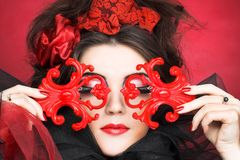 Творческая дама. стоковые изображения