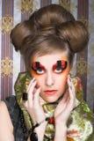 Творческая дама. стоковое изображение