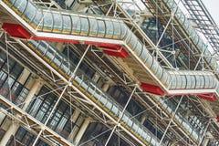 Творческая архитектура центра Pompidou в Париже Стоковое Изображение RF