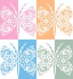Творческая бабочка вектора в влиянии зеркала Стоковое фото RF