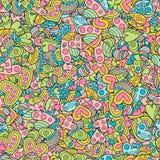 Творческая безшовная картина сердец пастельных цветов Стоковые Фотографии RF