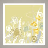 Творческая всеобщая флористическая карточка Текстуры нарисованные рукой Свадьба, годовщина, день рождения, день ` s Valentin, при Стоковое Изображение RF