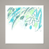 Творческая всеобщая флористическая карточка Текстуры нарисованные рукой Свадьба, годовщина, день рождения, день ` s Valentin, при Стоковая Фотография RF