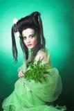творческая девушка Стоковая Фотография