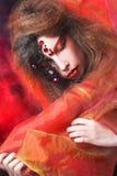 творческая девушка Стоковые Изображения RF