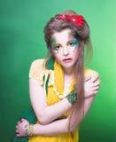 творческая девушка Стоковые Фото