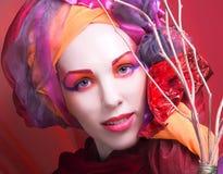 творческая девушка Стоковые Фотографии RF