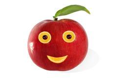 творческая еда Положительный сделанный портрет?? яблока и плодоовощей Стоковые Изображения RF