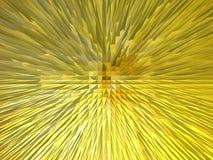 Творческая желтая абстракция Стоковое Изображение