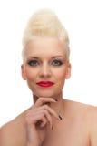 творческая женщина студии портрета стиля причёсок Стоковое Фото