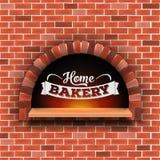 Творческая иллюстрация вектора каменного кирпича, печи швырка пиццы при огонь изолированный на прозрачной предпосылке искусство бесплатная иллюстрация