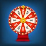 Творческая иллюстрация вектора колеса удачи 3d закручивая Удачливый джэкпот выигрыша рулетки в дизайне искусства казино Аннотация Стоковое Изображение RF