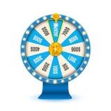 Творческая иллюстрация вектора колеса удачи 3d закручивая Удачливый джэкпот выигрыша рулетки в дизайне искусства казино Абстрактн Стоковое фото RF