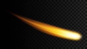 Творческая иллюстрация вектора летать космический метеор, planetoid, комета, файрбол изолированный на прозрачной предпосылке Иску иллюстрация вектора