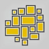 Творческая иллюстрация вектора шаблона картинных рамок стены изолированного на предпосылке Фото пробела дизайна искусства Аннотац бесплатная иллюстрация