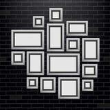 Творческая иллюстрация вектора шаблона картинных рамок стены изолированного на предпосылке Фото пробела дизайна искусства Аннотац иллюстрация вектора