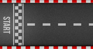 Творческая иллюстрация взгляд сверху предпосылки гонок финишной черты Конструкция искусства Начните или закончите на гонке kart Т бесплатная иллюстрация
