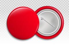 Творческая иллюстрация кнопки штыря 3d изолированной на прозрачной предпосылке Передняя и задняя сторона Broo значка пробела диза иллюстрация вектора
