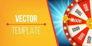 Творческая иллюстрация колеса удачи 3d закручивая Удачливый джэкпот выигрыша рулетки в дизайне искусства казино Абстрактная диагр Стоковые Изображения RF
