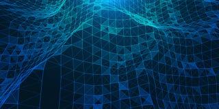 Творческая иллюстрация с низкой поли структурой соединения Стоковые Изображения RF