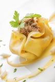 Творческая итальянская кухня: Равиоли лакомки Стоковые Фото