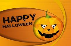 Творческая карточка хеллоуина бумаги иллюстрация штока