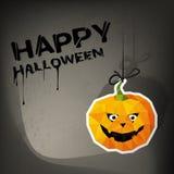 Творческая карточка хеллоуина иллюстрация вектора